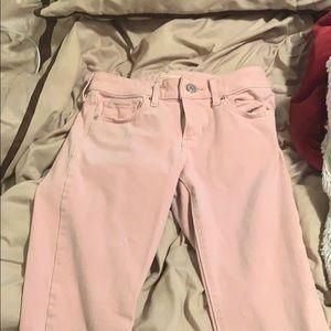 Blush pink jeans